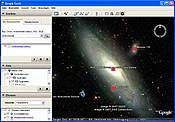 Spiral Galaxy Picture in Google Sky